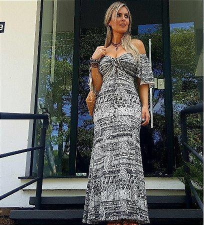 Vestido Longo Busto Ciganinha