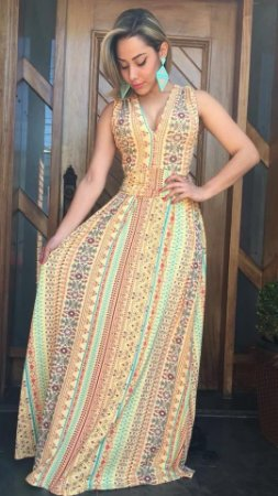 Vestido Longo 3 em 1 Color Primavera