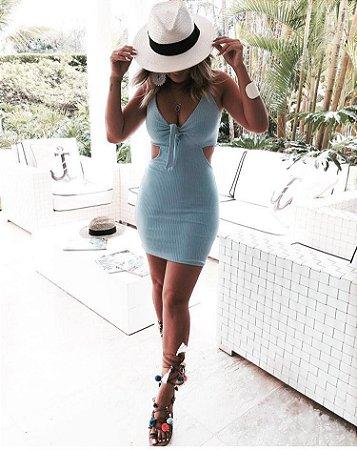 Vestido Curto Amarração Frontal - Lady
