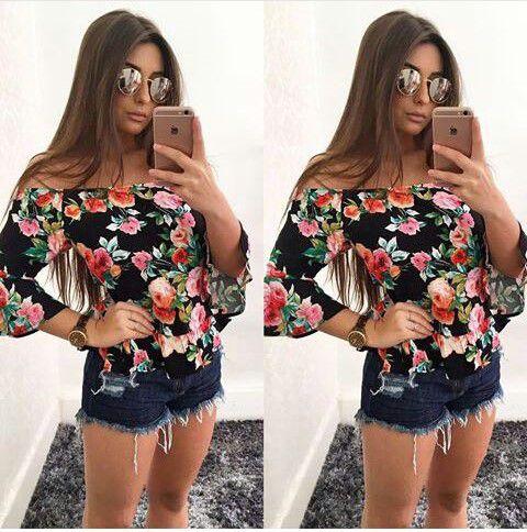 Blusa Ciganinha Floral Verão 17