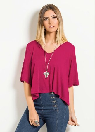 Blusa Soltinha Quintess Bordô