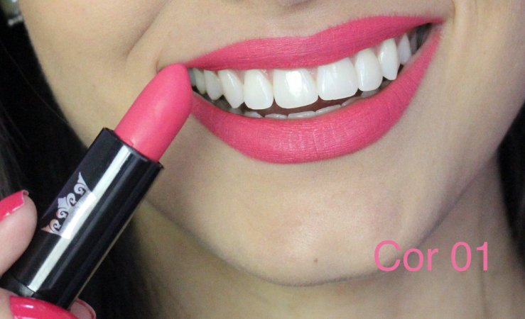 Batom Queen Makeup Matte -  Cor 01