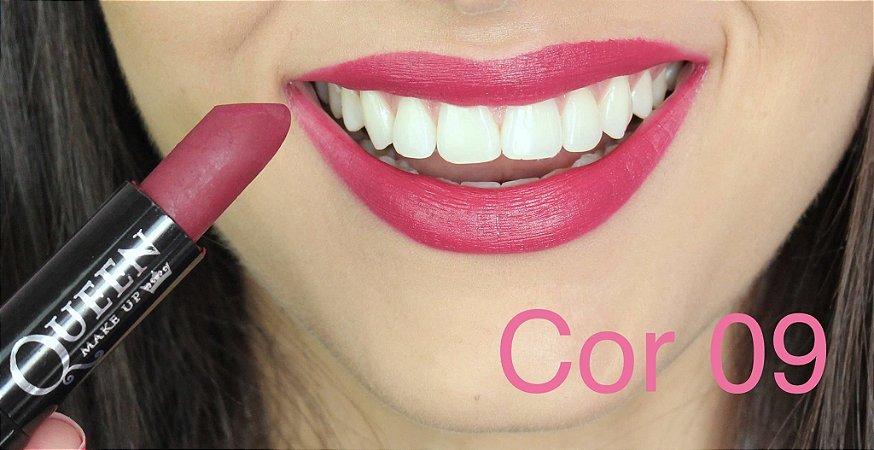 Batom Queen Makeup Matte - Cor 09