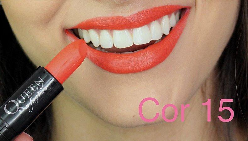 Batom Queen Makeup Matte - Cor 15