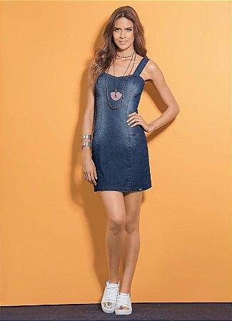 Vestido Jeans Tubinho Quintess