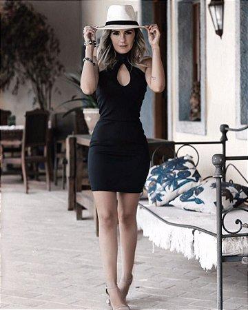 Vestido Curto Decote Gota - Laris