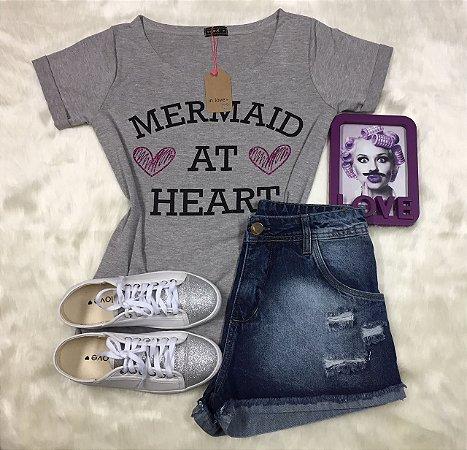 Tee Shirt Mescla Mermaid