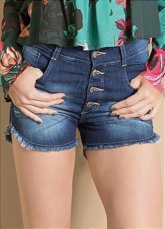 Short Cintura Alta Destroyed Jeans