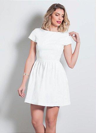 Vestido Branco Quintess Acinturado