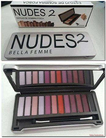 Paleta de sombras foscas NUDES 2 Bella Femme