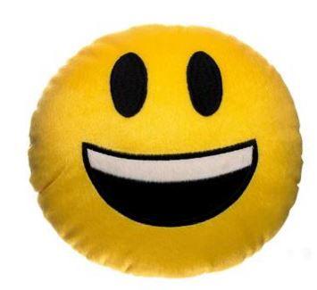 Almofada Emoji Whatsapp Muito Feliz
