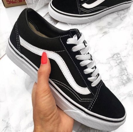 83bb59f386 Vans Old Skool Preto e Branco