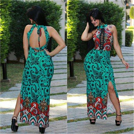 Vestido Longo Amarração Priscila