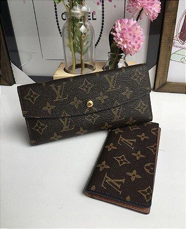 6dcff80ce ... Carteira Louis Vuitton Monogram c/ botão - Imagem 5 ...