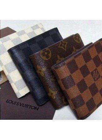 Carteira Masculina Louis Vuitton - Couro Legítimo