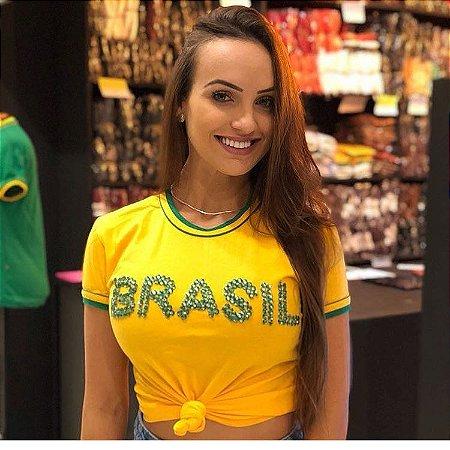 T-shirt Bordada Brasil