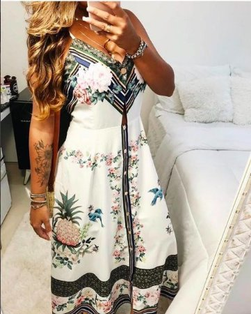 Vestido Mid Estampado