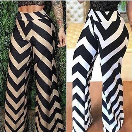 Calça Pantalona zigzag