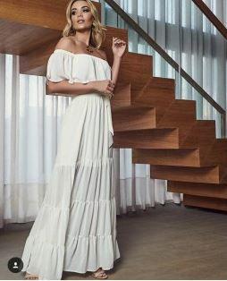 Vestido Francine - Chifon Ártico
