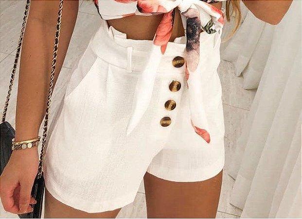 Shorts linho rústico