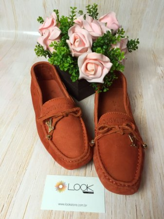 Mocassim Louis Vuitton - Laranja