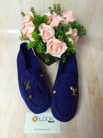 Mocassim Louis Vuitton - Azul Bic