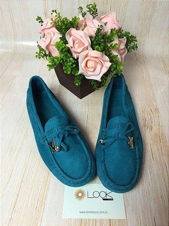 Mocassim Louis Vuitton - Azul Turquesa
