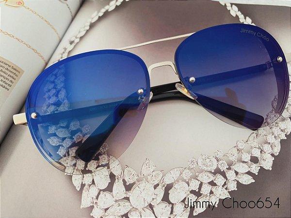 Óculos aviador: modelo clássico Jimmy Choo654