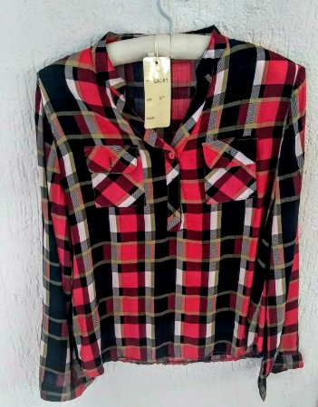 ... Camisa Xadrez Rosa - Imagem 2 ... 298b26546b8a1