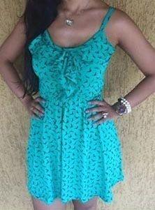 Vestido Verde Jade Estampado