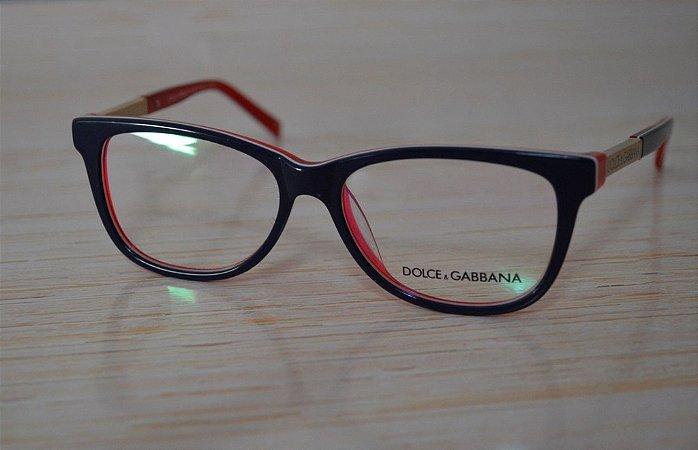 Óculos para Grau - Dolce and Gabbana - Azul com vermelho