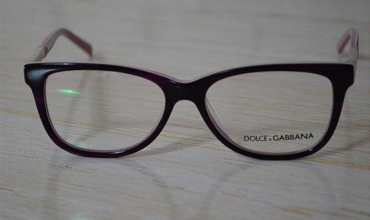 Óculos para Grau - Dolce and Gabbana - Rosa com roxo