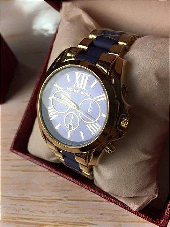 Michael Kors - Dourado com Azul (algarismos)