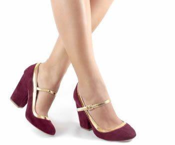 Sapato de Boneca - Marsala