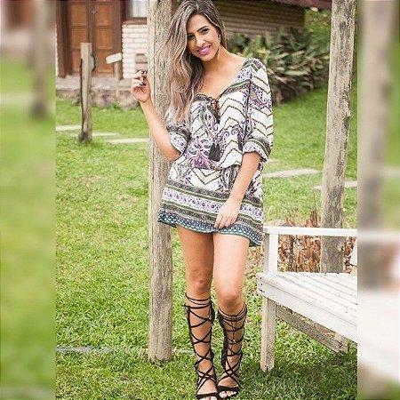 Vestido Estampa Etnica