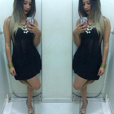 Vestido Preto Tricot