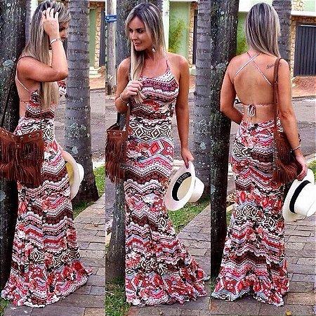 Vestido Sereia Costas Abertas