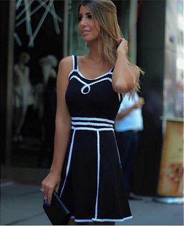 Vestido Jacquard P&B