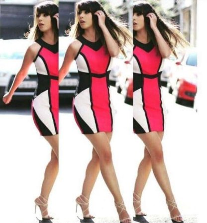 Vestido Tricot Rosa 3D