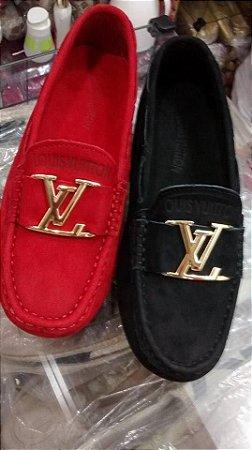 Mocassim Louis Vuitton - Vermelho -  Novo Modelo