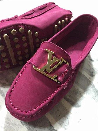 Mocassim Louis Vuitton - Rosa Escuro -  Novo Modelo