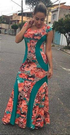 Vestido Longo - Estampa Floral
