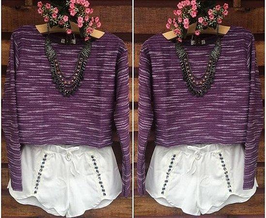 Tricot Cropped Violeta