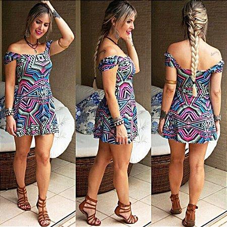 Vestido Curto - Estampa Geométrica