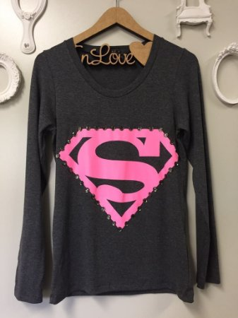 Tee Super Girls Manga Longa