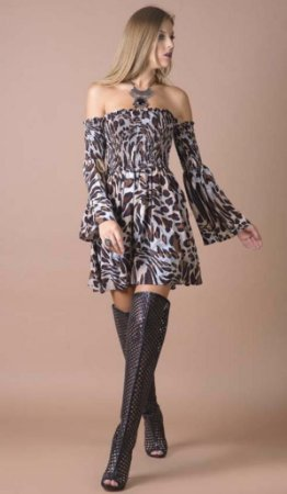 Vestido Ciganinha Print