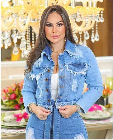 Jaqueta Jeans Clara - Destroyed