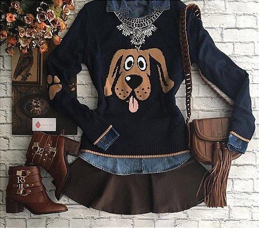 Tricot Dog - Preto