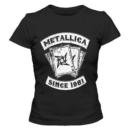 Camiseta Feminina Metallica