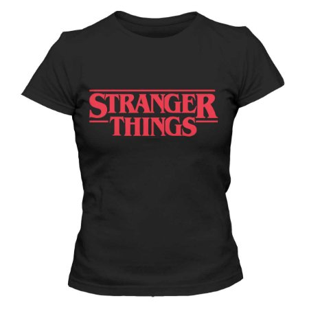 Camiseta Feminina Stranger Things - Logo